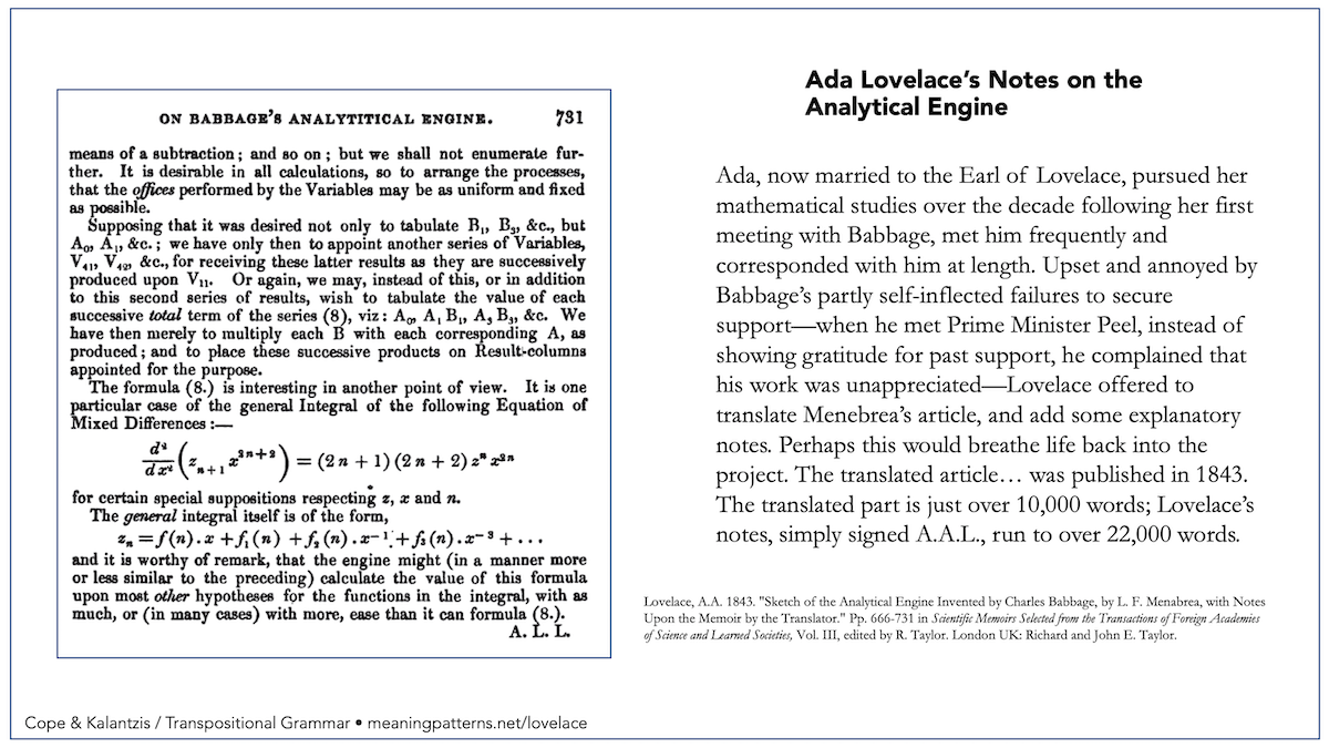 """Analytical Learning lovelace on the """"analytical engine"""" - new learning online"""