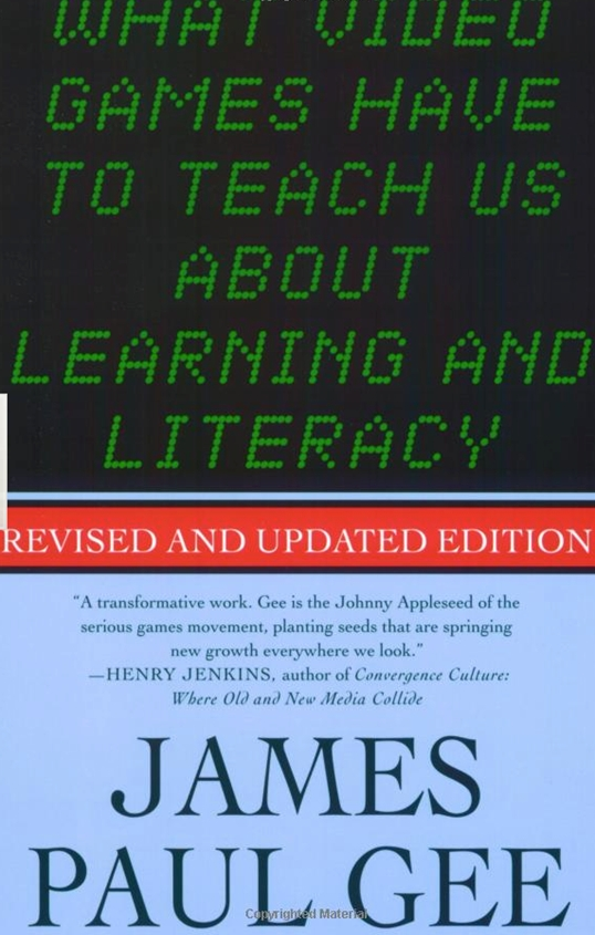 Gee on what video games have to teach us about learning and literacy gee on what video games have to teach us about learning and literacy fandeluxe Images